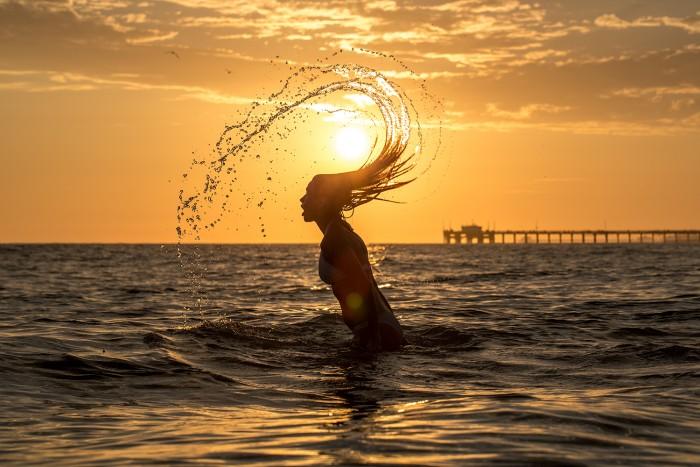 Newport Beach Sunset Scene